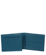 'Victor' Teal Leather Tri-Fold Wallet image 4