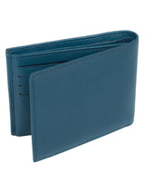 'Victor' Teal Leather Tri-Fold Wallet image 5
