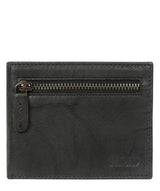 'Victor' Vintage Black Leather Tri-Fold Wallet image 1