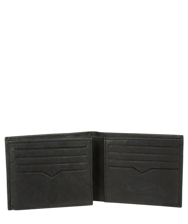 'Victor' Vintage Black Leather Tri-Fold Wallet image 3