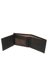 'Victor' Vintage Black Leather Tri-Fold Wallet image 4