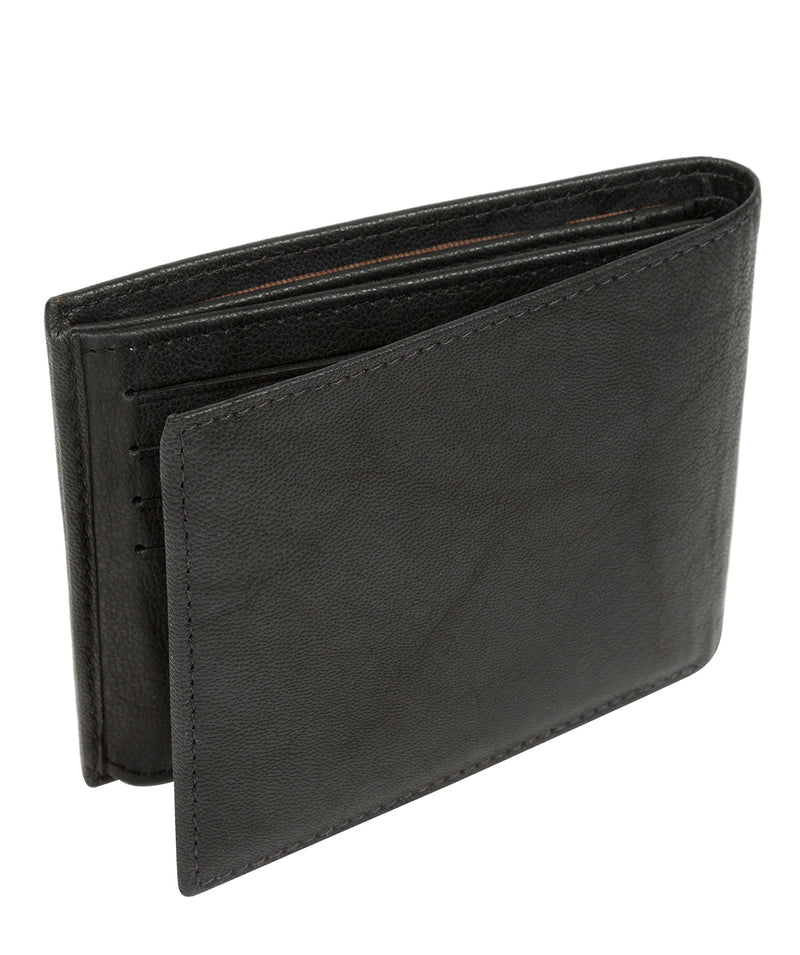 'Victor' Vintage Black Leather Tri-Fold Wallet image 5