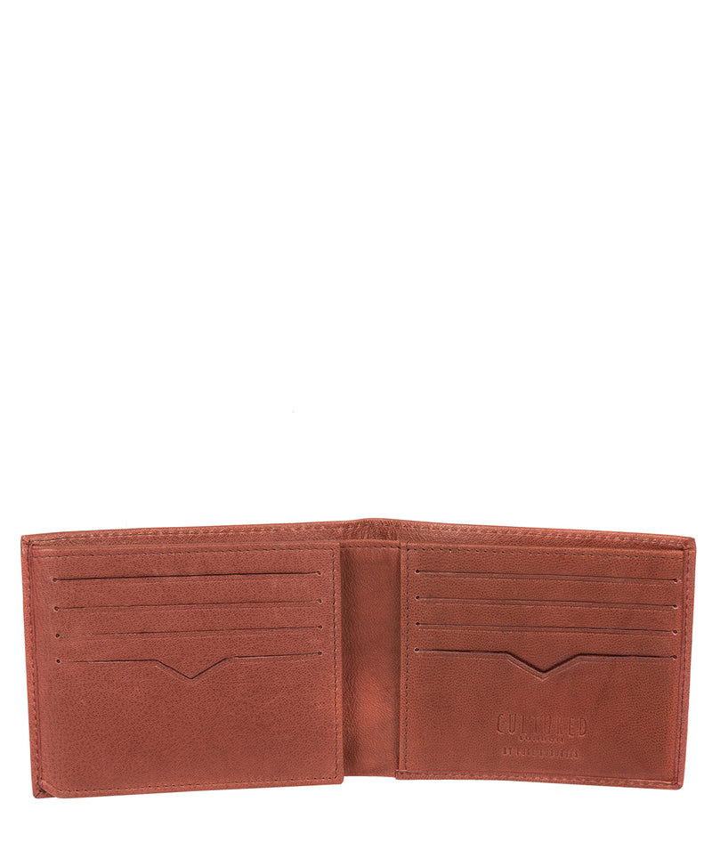 'Victor' Vintage Brick Leather Tri-Fold Wallet image 3