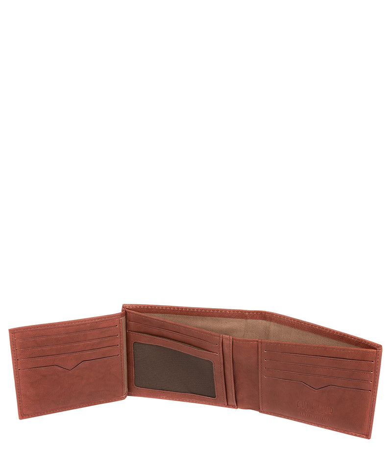 'Victor' Vintage Brick Leather Tri-Fold Wallet image 4