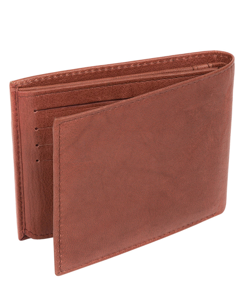 'Victor' Vintage Brick Leather Tri-Fold Wallet image 5