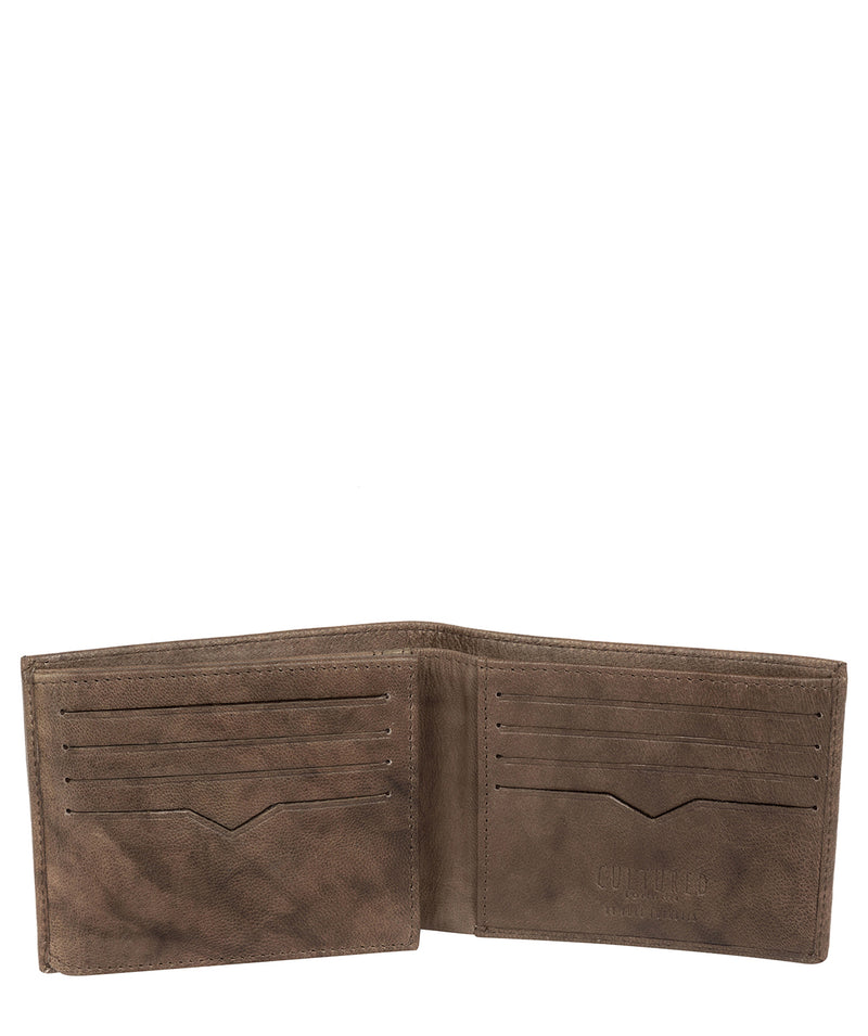 'Victor' Vintage Brown Leather Tri-Fold Wallet image 3