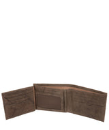 'Victor' Vintage Brown Leather Tri-Fold Wallet image 4