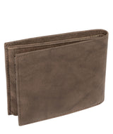 'Victor' Vintage Brown Leather Tri-Fold Wallet image 5