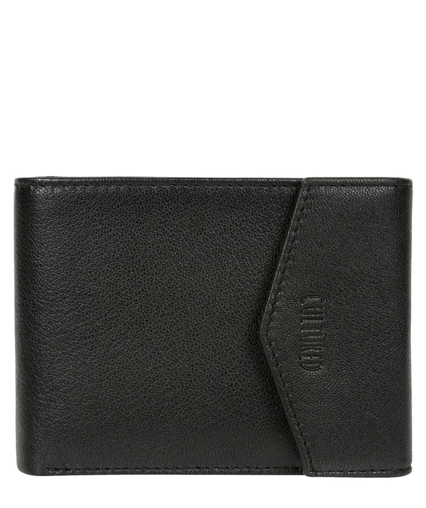 'Doyle' Black Leather Bi-Fold Wallet image 1