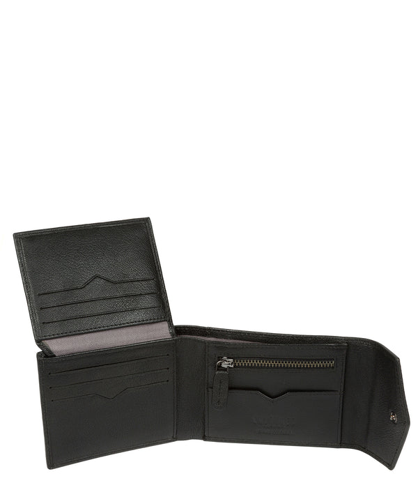 'Doyle' Black Leather Bi-Fold Wallet image 3