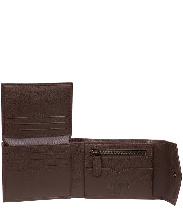 'Doyle' Brown Leather Bi-Fold Wallet image 3