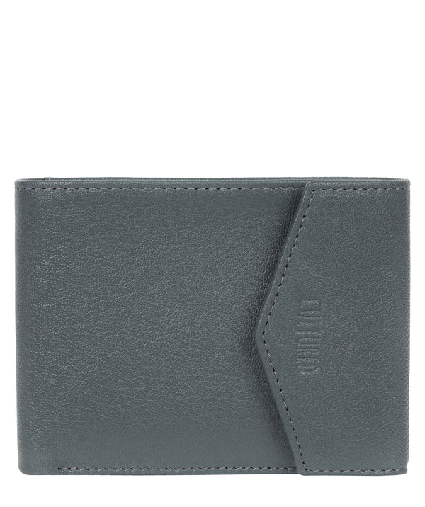 'Doyle' Gun Metal Leather Bi-Fold Wallet image 1