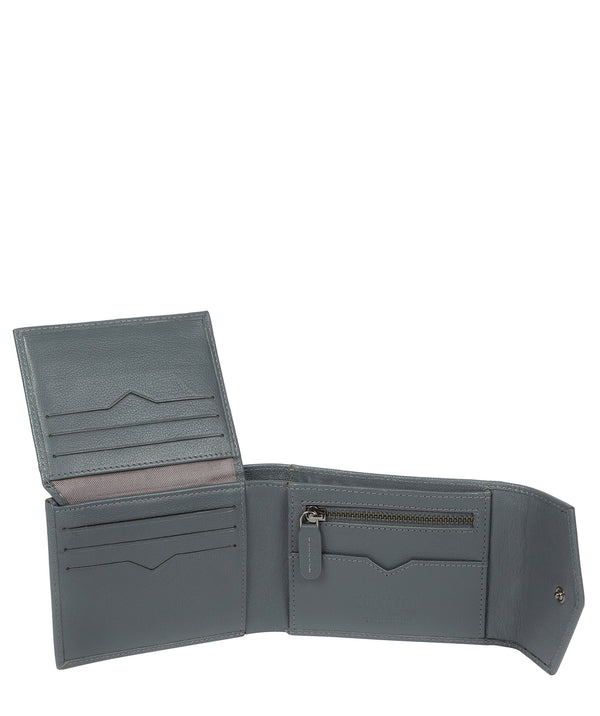 'Doyle' Gun Metal Leather Bi-Fold Wallet image 3