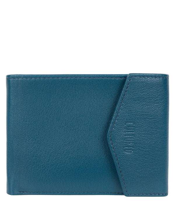 'Doyle' Teal Leather Bi-Fold Wallet image 1