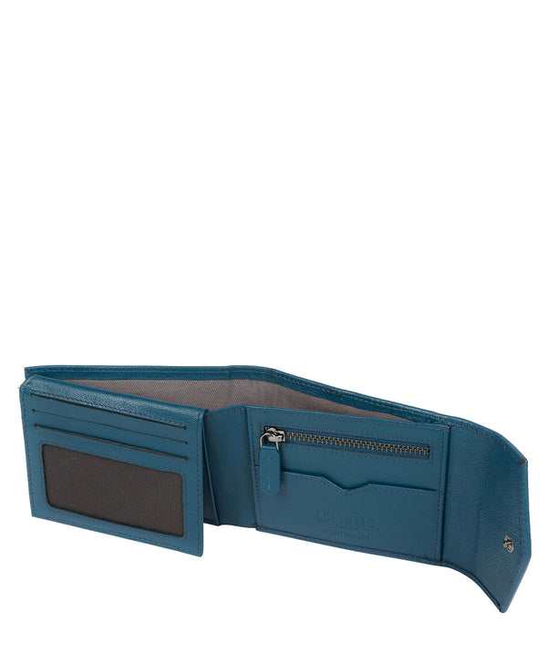 'Doyle' Teal Leather Bi-Fold Wallet image 3