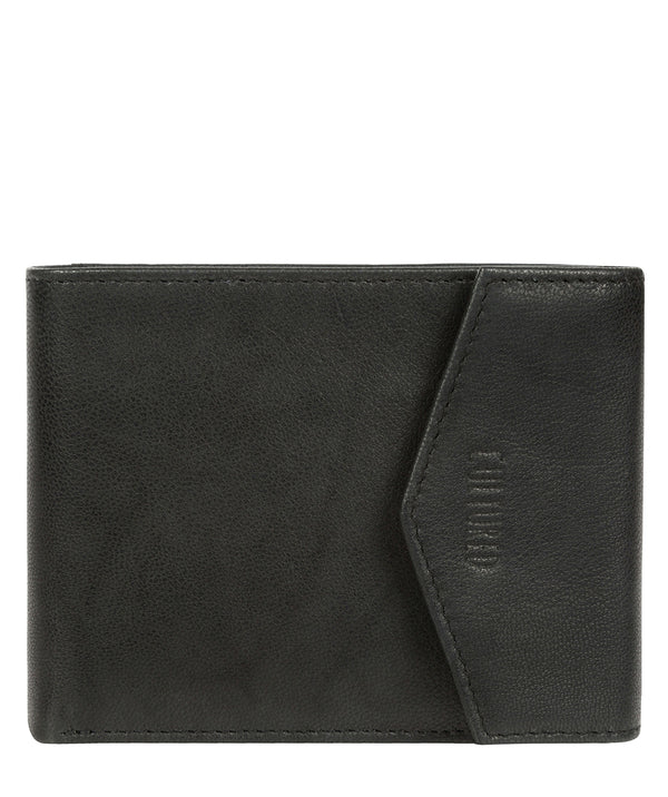'Doyle' Vintage Black Leather Bi-Fold Wallet image 1