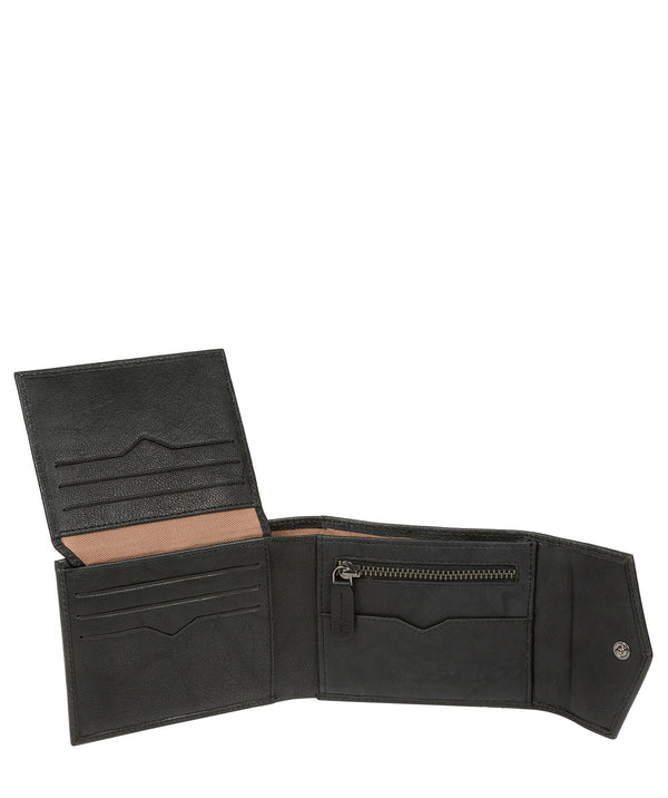 'Doyle' Vintage Black Leather Bi-Fold Wallet image 3
