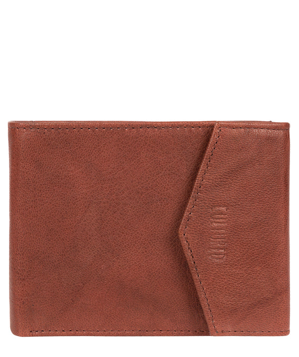 'Doyle' Vintage Brick Leather Bi-Fold Wallet image 1