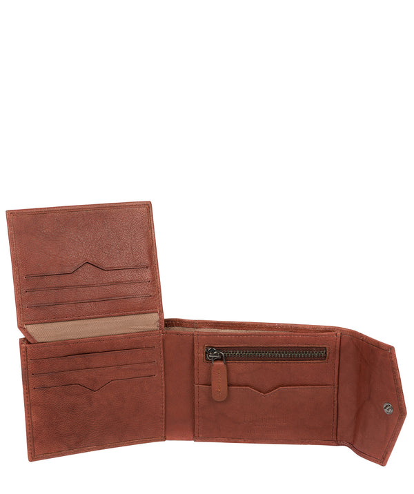 'Doyle' Vintage Brick Leather Bi-Fold Wallet image 3