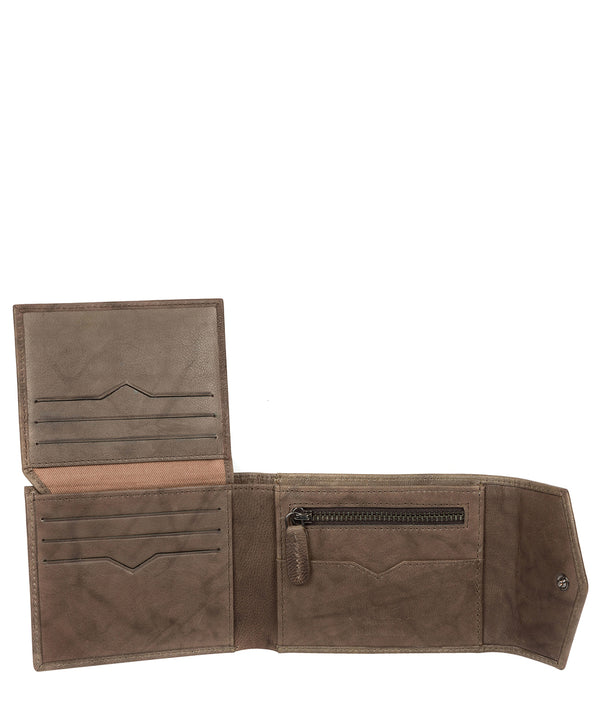 'Doyle' Vintage Brown Leather Bi-Fold Wallet image 3