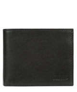 'Niall' Black Leather Tri-Fold Wallet image 1