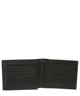 'Niall' Black Leather Tri-Fold Wallet image 3