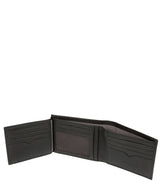 'Niall' Black Leather Tri-Fold Wallet image 4