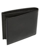 'Niall' Black Leather Tri-Fold Wallet image 5