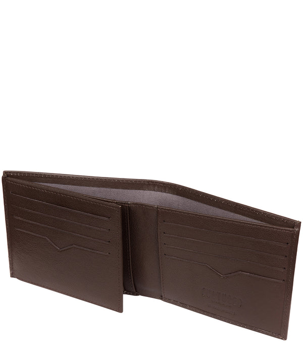 'Niall' Brown Leather Tri-Fold Wallet image 3