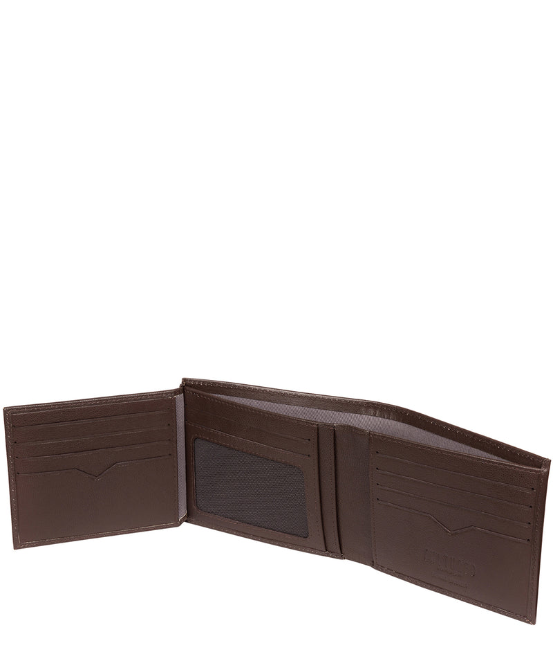 'Niall' Brown Leather Tri-Fold Wallet image 4
