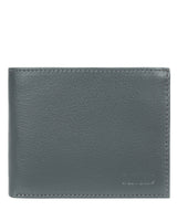 'Niall' Gun Metal Leather Tri-Fold Wallet image 1