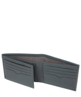'Niall' Gun Metal Leather Tri-Fold Wallet image 4
