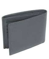 'Niall' Gun Metal Leather Tri-Fold Wallet image 5