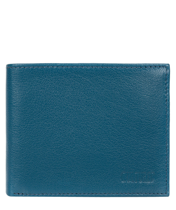 'Niall' Teal Leather Tri-Fold Wallet image 1