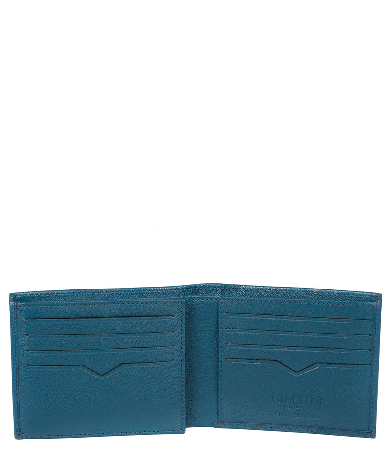 'Niall' Teal Leather Tri-Fold Wallet image 3