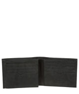 'Niall' Vintage Black Leather Tri-Fold Wallet image 3