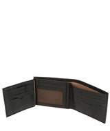 'Niall' Vintage Black Leather Tri-Fold Wallet image 4