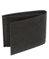 'Niall' Vintage Black Leather Tri-Fold Wallet image 5