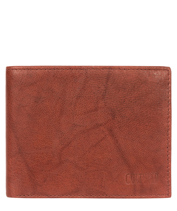 'Niall' Vintage Brick Leather Tri-Fold Wallet image 1