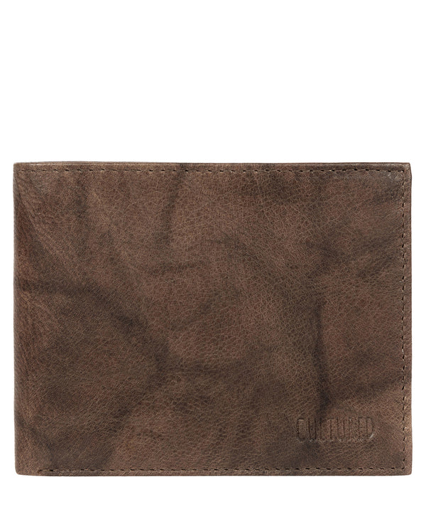 'Niall' Vintage Brown Leather Tri-Fold Wallet image 1