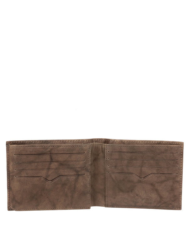 'Niall' Vintage Brown Leather Tri-Fold Wallet image 3