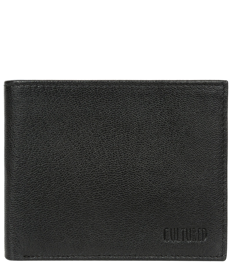 'Fabian' Black Leather Bi-Fold Wallet image 1