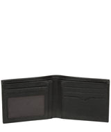 'Fabian' Black Leather Bi-Fold Wallet image 3
