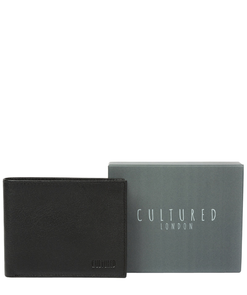 'Fabian' Black Leather Bi-Fold Wallet image 6