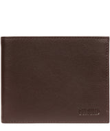 'Fabian' Brown Leather Bi-Fold Wallet image 1