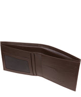 'Fabian' Brown Leather Bi-Fold Wallet image 3