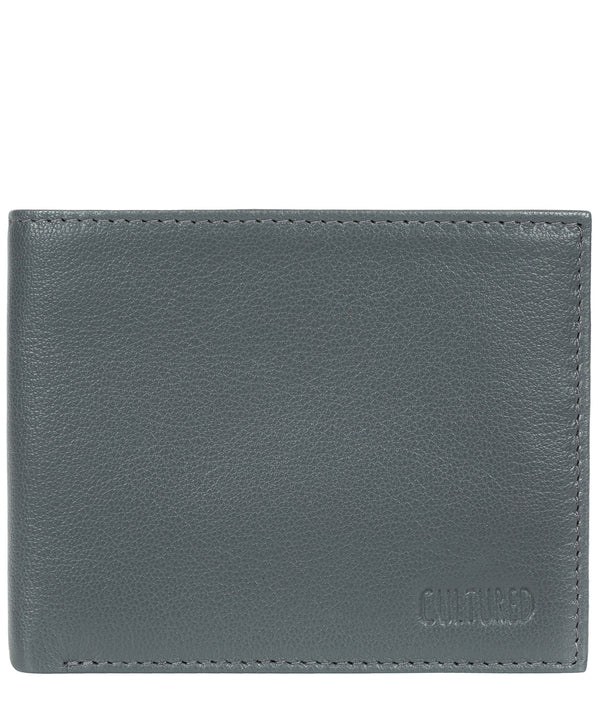 'Fabian' Gun Metal Leather Bi-Fold Wallet image 1