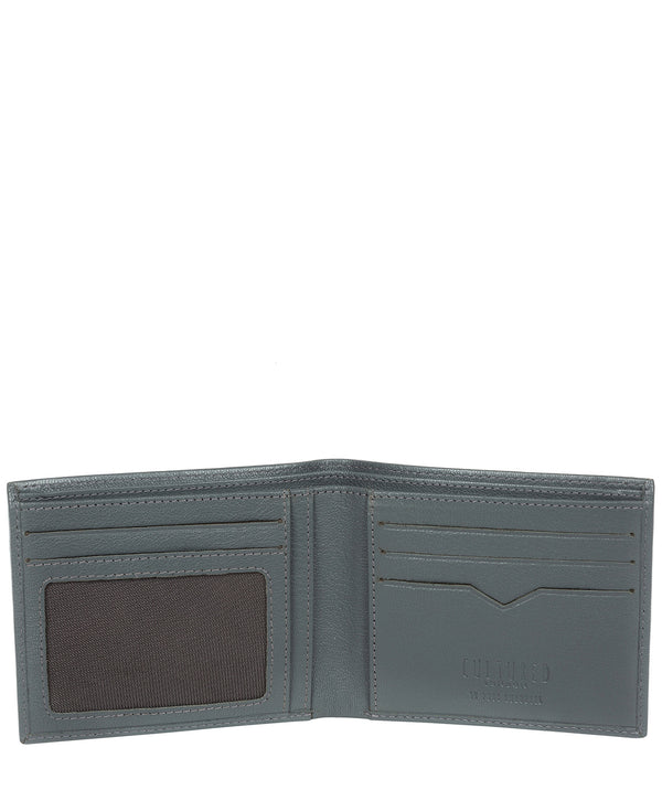'Fabian' Gun Metal Leather Bi-Fold Wallet image 3