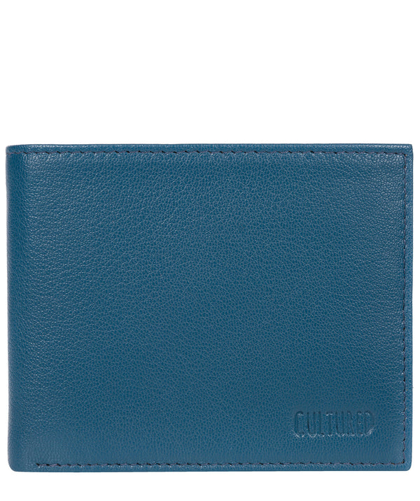 'Fabian' Teal Leather Bi-Fold Wallet image 1