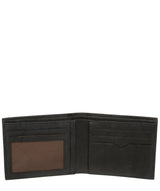 'Fabian' Vintage Black Leather Bi-Fold Wallet image 3